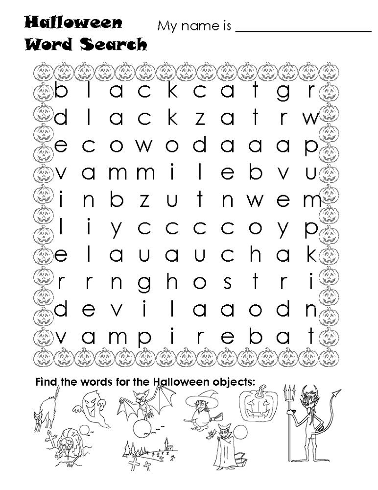 Free Word Searches For Kids Easy