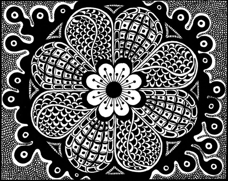 Free Zentangle Coloring Pages