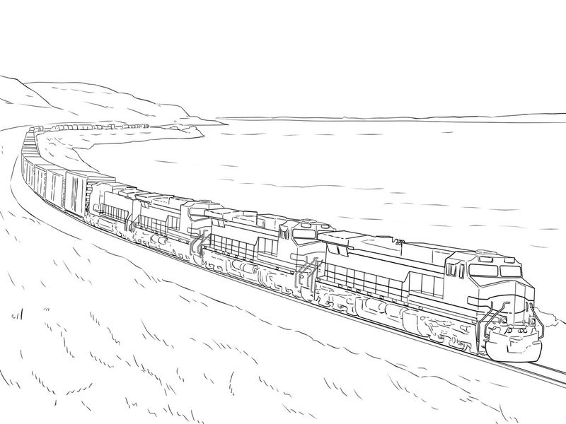 Freight Trains Coloring Pages