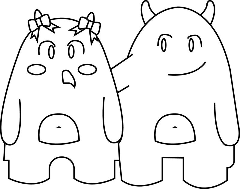 Friendship Monster Coloring Page