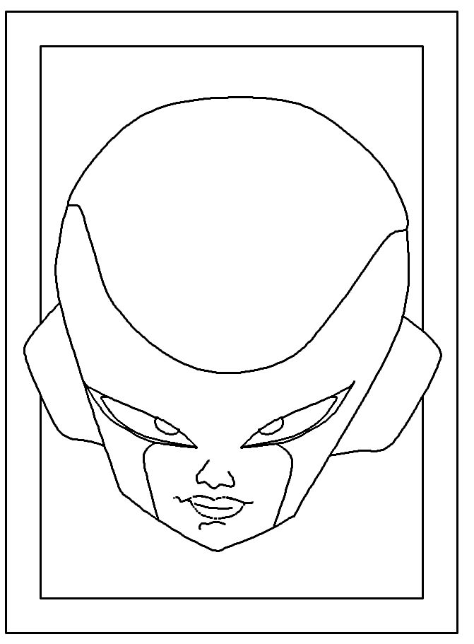 Frieza Dragon Ball Z Coloring Pages 001
