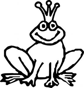 Frog king coloring page