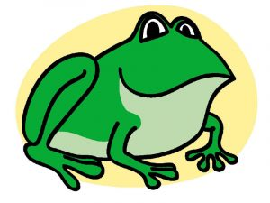 Frog pictures for kids green