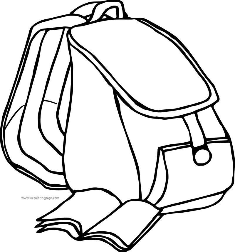 From School Bag Coloring Page