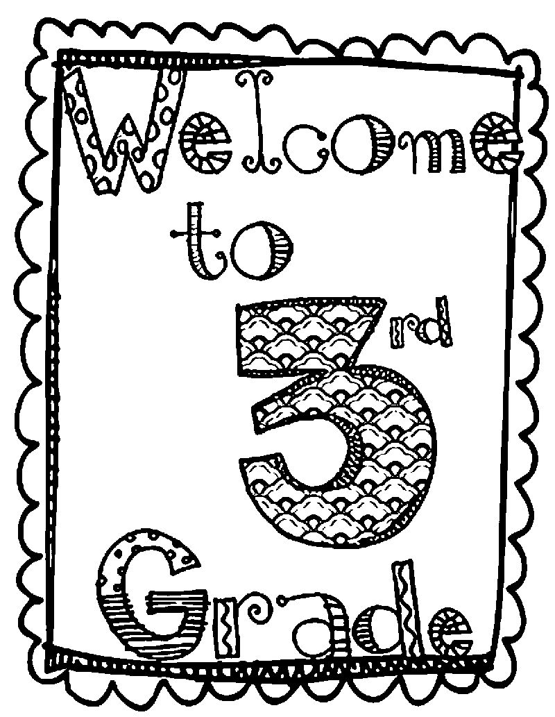 Front Page Image 3rd Grade Coloring Page