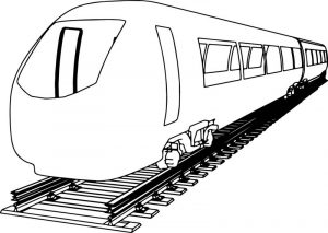 Front train coloring page