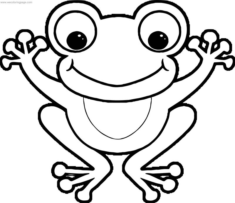 Front View Frog Coloring Page