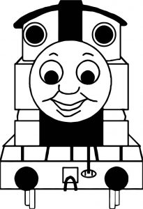 Front view train coloring page