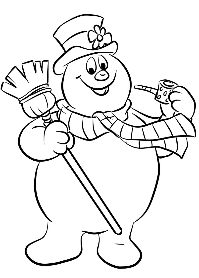 Frosty The Snowman Coloring Pages Kids