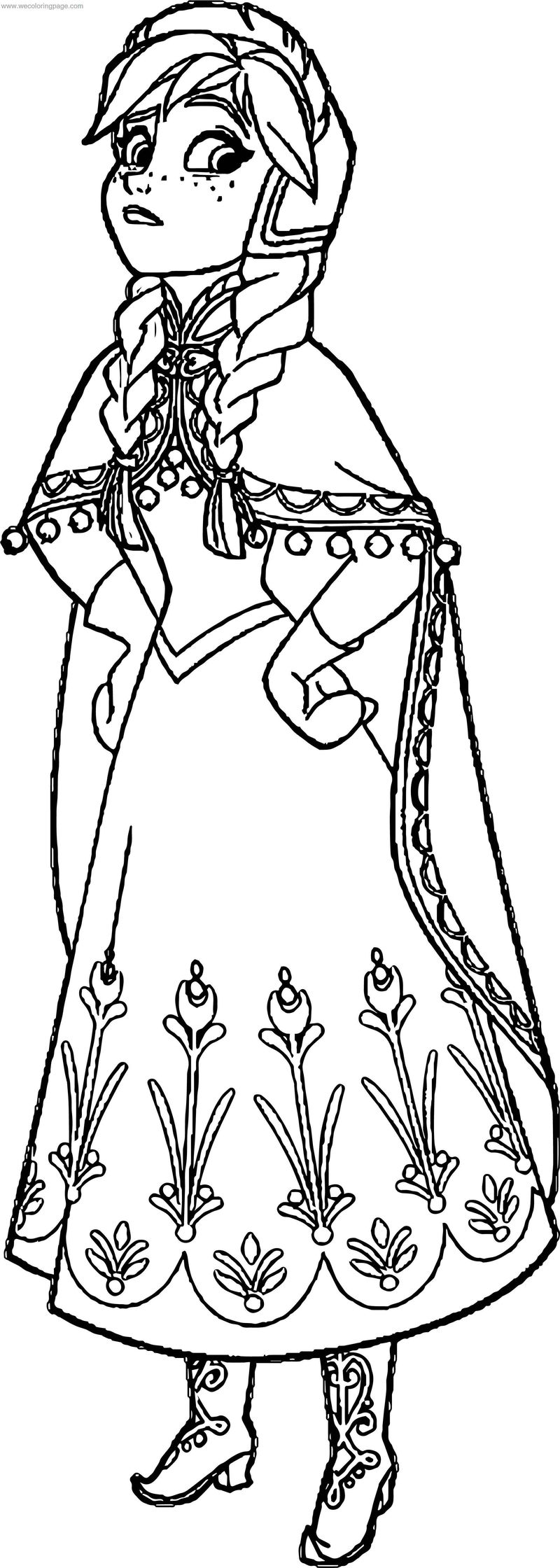 Frozen Anna Coloring Page - Coloring Sheets
