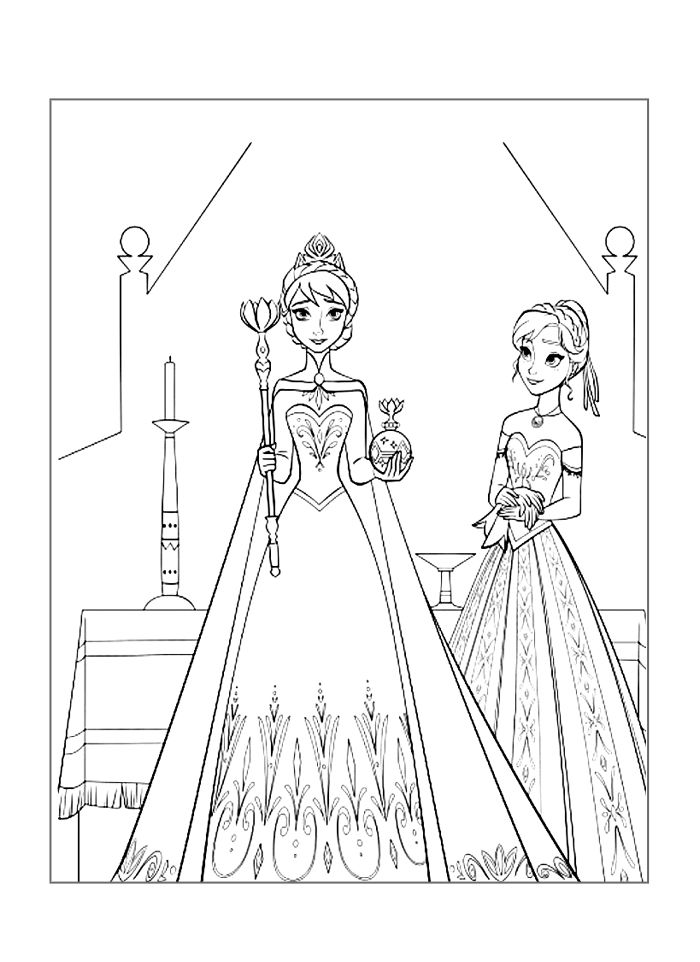 Frozen Coloring Page Proud Anna