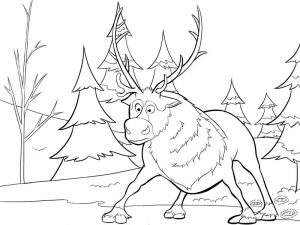 Frozen coloring page sven