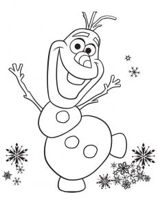 Frozen coloring pages olaf