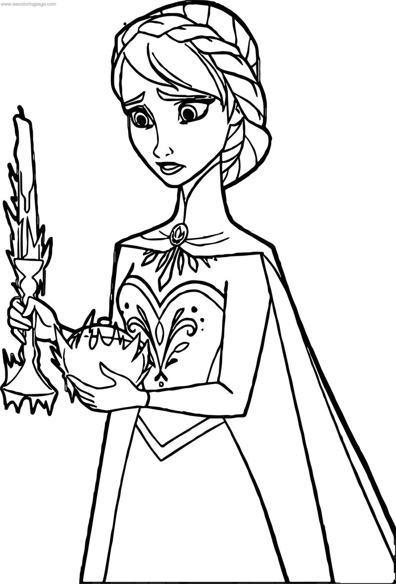 Frozen Elsa Ice Coloring Page