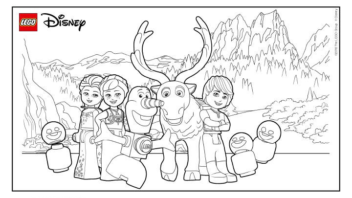 Frozen Lego Coloring Page