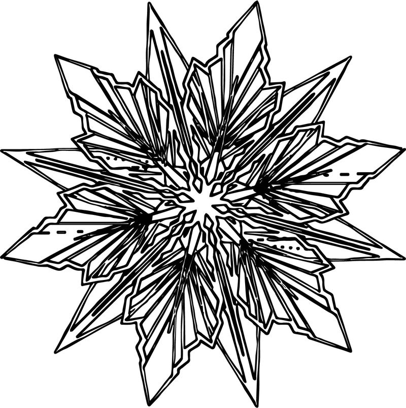 Frozen Snowflake Coloring Page