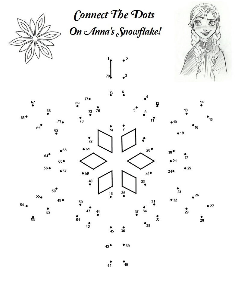 Frozen Worksheet Printable Dot To Dot