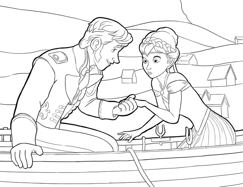 Frozen Worksheets Anna And Prince 001