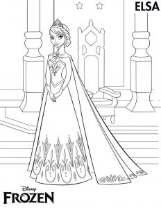 Frozen worksheets coloring elsa