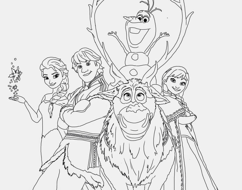 Frozen Worksheets Coloring Pages