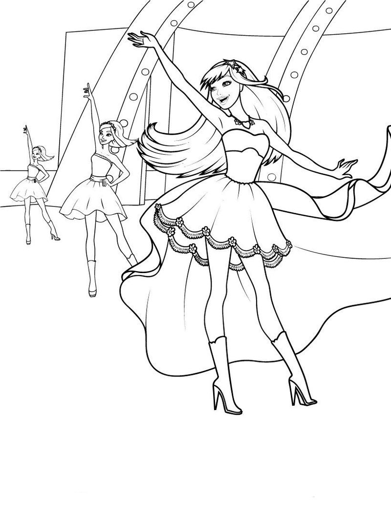Fun Barbie Princess Coloring Pages
