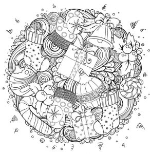 Fun christmas coloring pages for adults