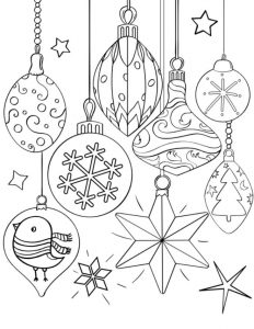 Fun christmas ornaments coloring page