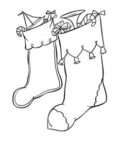 Fun christmas stocking coloring pages
