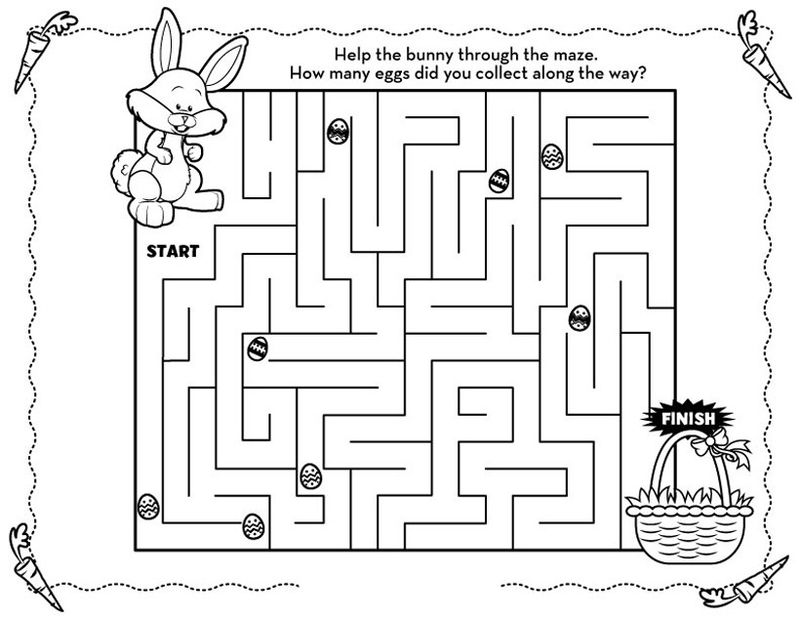 Fun Easter Holiday Mazes