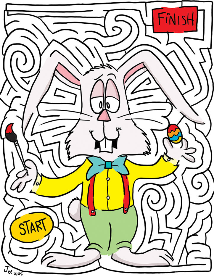 Fun easter mazes