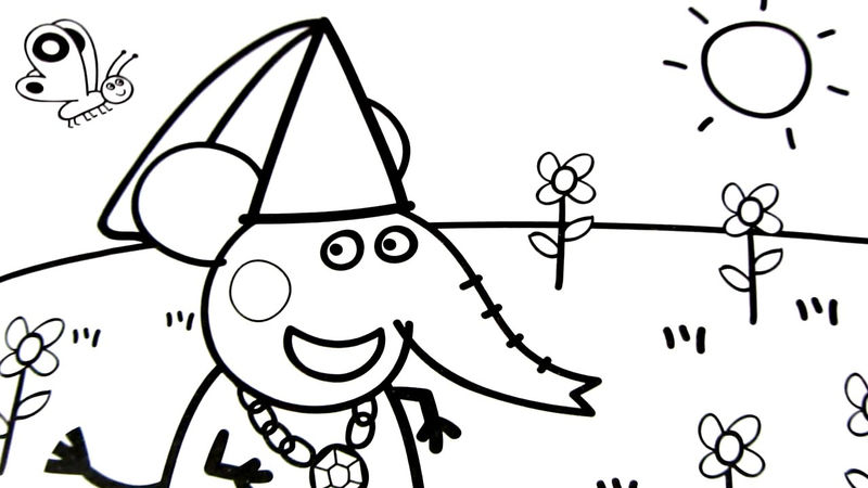 Fun Elephant Peppa Pig Coloring Pages