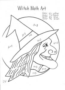 Fun math pages halloween