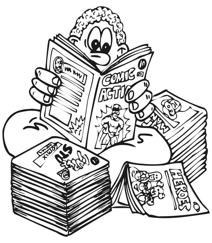 Fun Reading Coloring Page