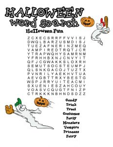 Fun word searches halloween