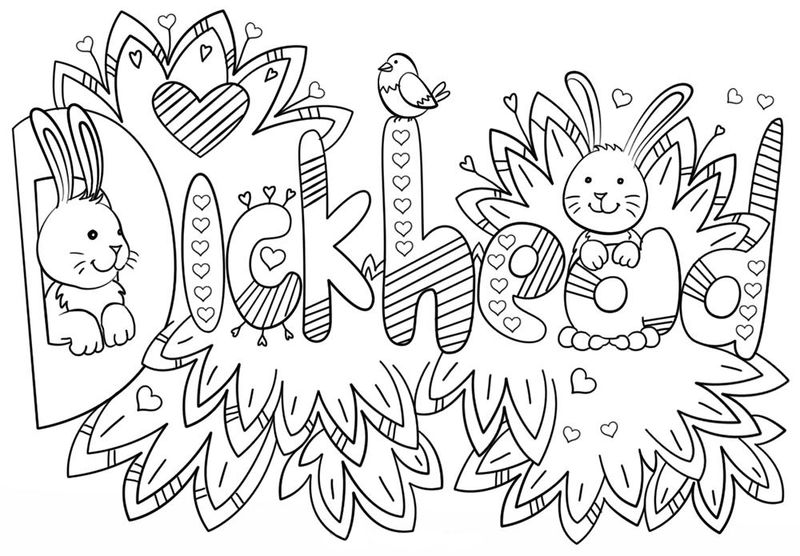 Funny Adult Curse Word Coloring Pages