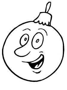 Funny christmas ornament coloring page