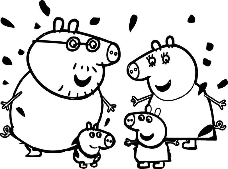 Funny Peppa Pig Coloring Page