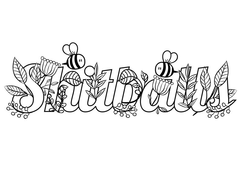 Funny Swear Adult Coloring Pages