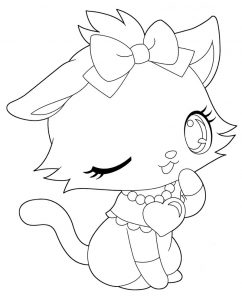 Gamet jewelpet happiness character coloring sheet