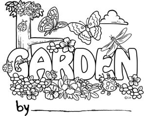 Garden coloring pages