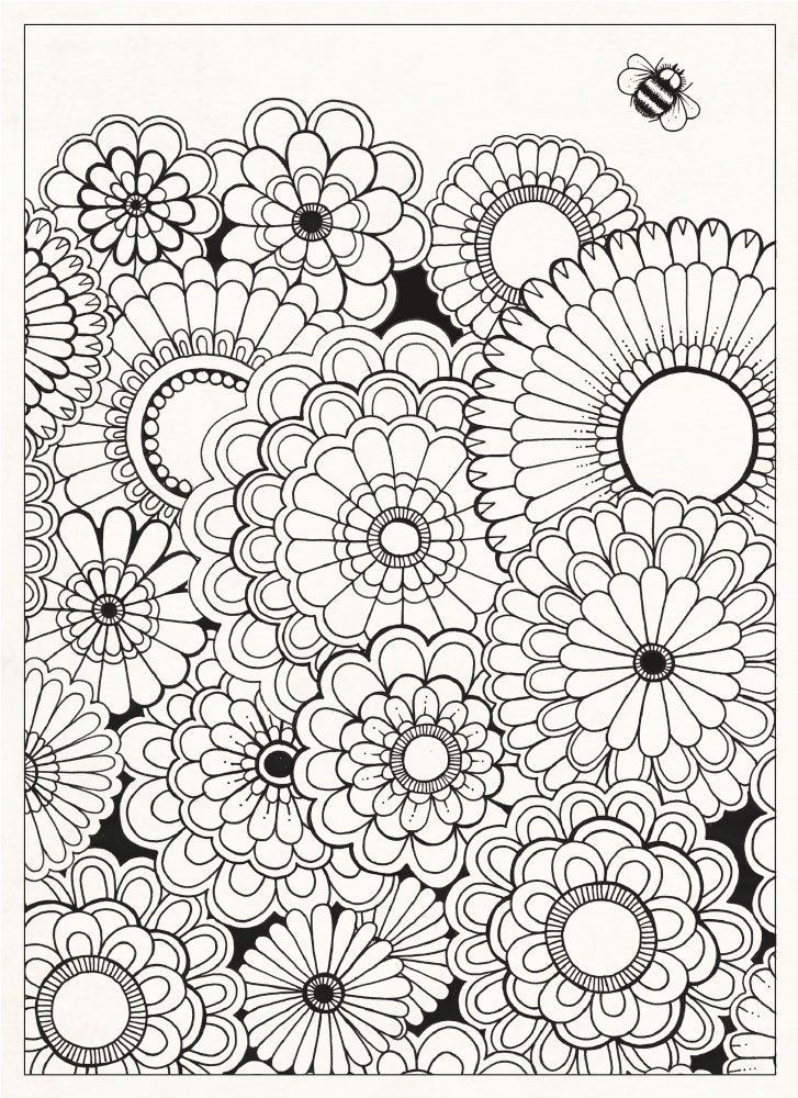 Garden Flowers Coloring Pages For Adults