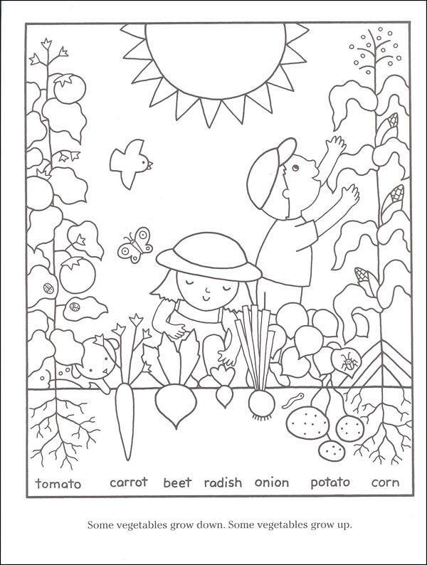 Gardening Coloring Pages For Kids 001