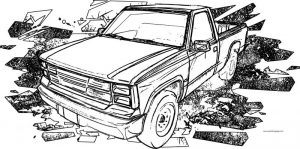 Gavril d15 truck car coloring page