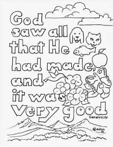 Genesis bible coloring pages