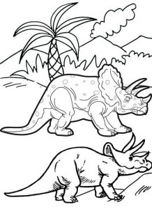 Gentle giant triceratops coloring pages