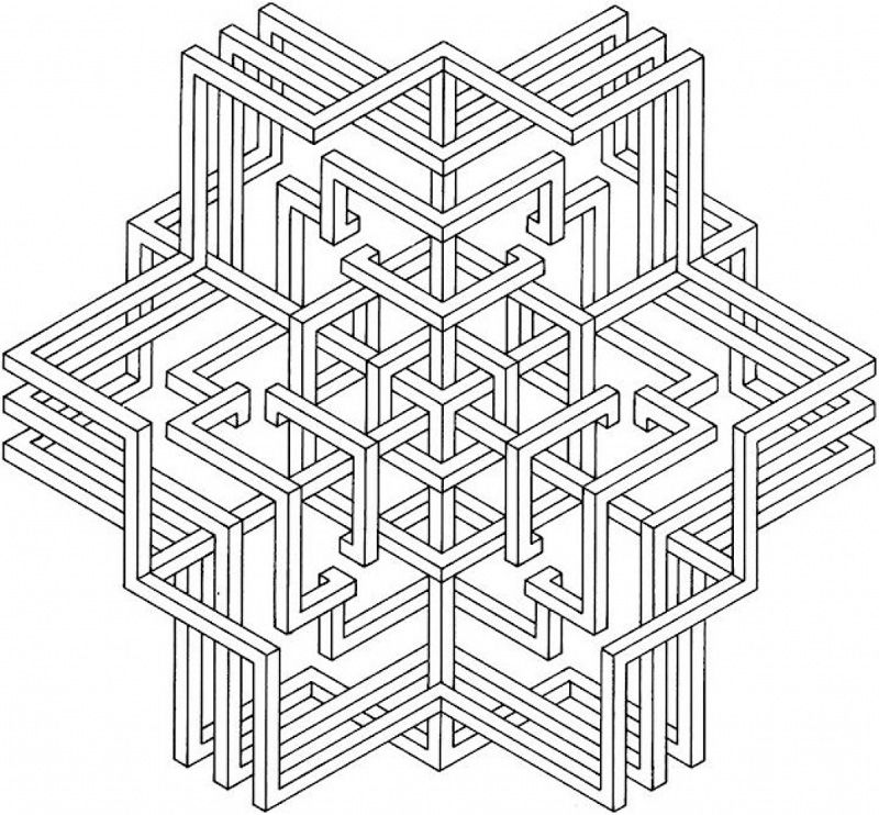 Geometric Coloring Pages For Adults Printable