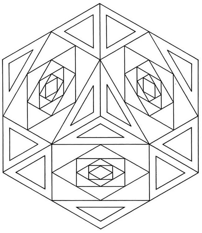 Geometric Design Coloring Pages For Adults