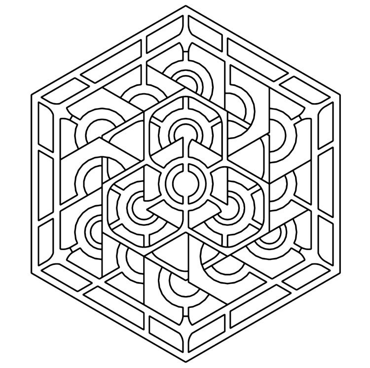 Geometric Pattern Coloring Pages For Adults