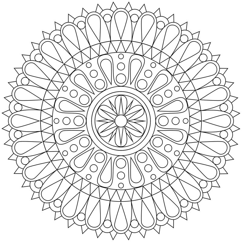 Geometric Shape Coloring Pages 1