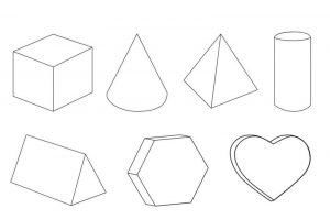 Geometrical shapes for kindergarten